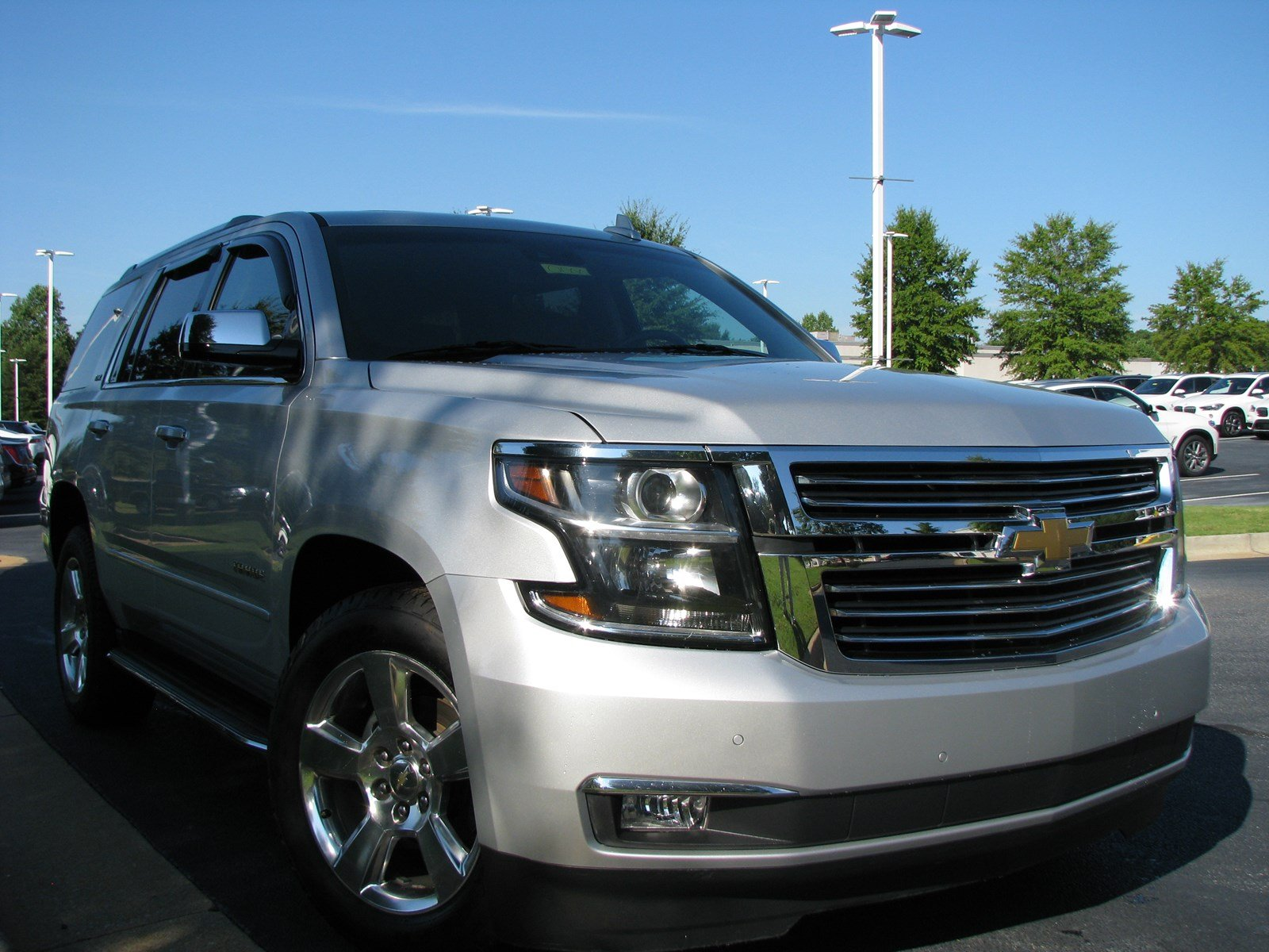 Pre Owned 2015 Chevrolet Tahoe Ltz Sport Utility In Columbus B3259p Chevy Chrome Roof Rack
